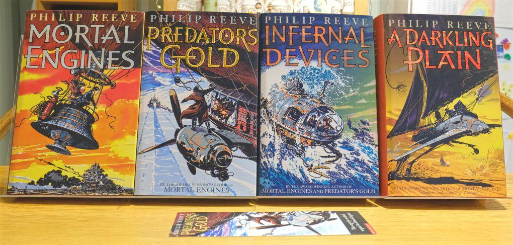 Mortal Engines Quartet all signed 1st Editions, 1st Printings - Mortal  Engines, Predators Gold, Infernal Devices, A Darkling Plain UK HBs by Reeve  Philip: Fine Hardcover 1st Edition, Signed by Author(s) |