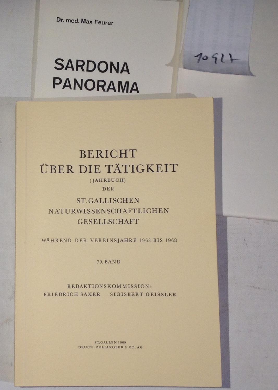 Bericht über die Tätigkeit (Jahrbuch) der St.Gallischen: Saxer, Friedrich /