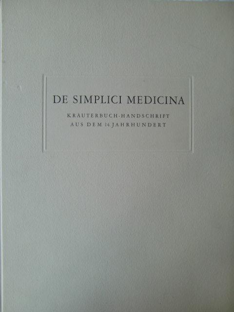 De simplici Medicina.: PFISTER, Arnold: