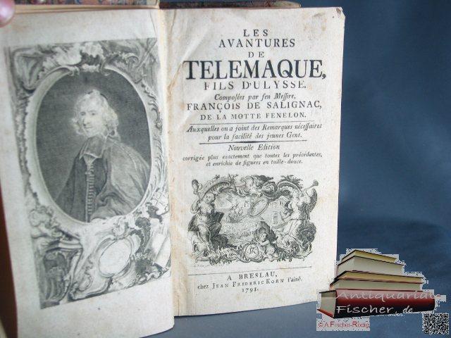 Les Avantures de Telemaque fils d'Ulysse par: Fenelon, Francois de