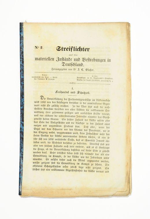 Streiflichter auf die materiellen Zustände und Bestrebungen: Glaser, J. C.