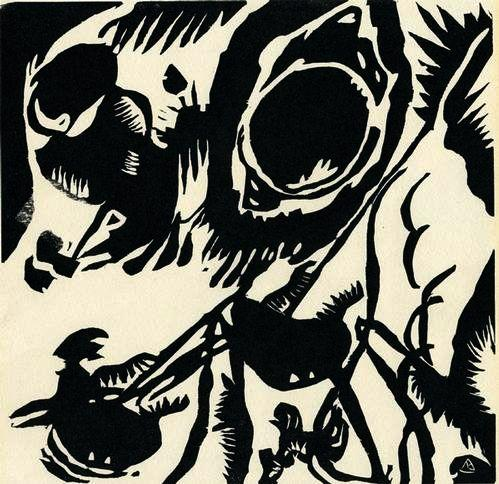 "Abstrakte Komposition aus ""Klänge"".: Kandinsky, Wassily"