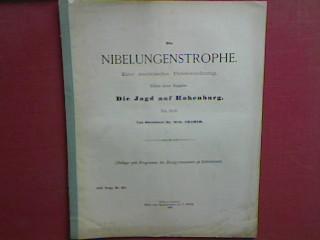 Die Nibelungenstrophe - eine metrische Untersuchung./ Die: Cramer, Wilh. und