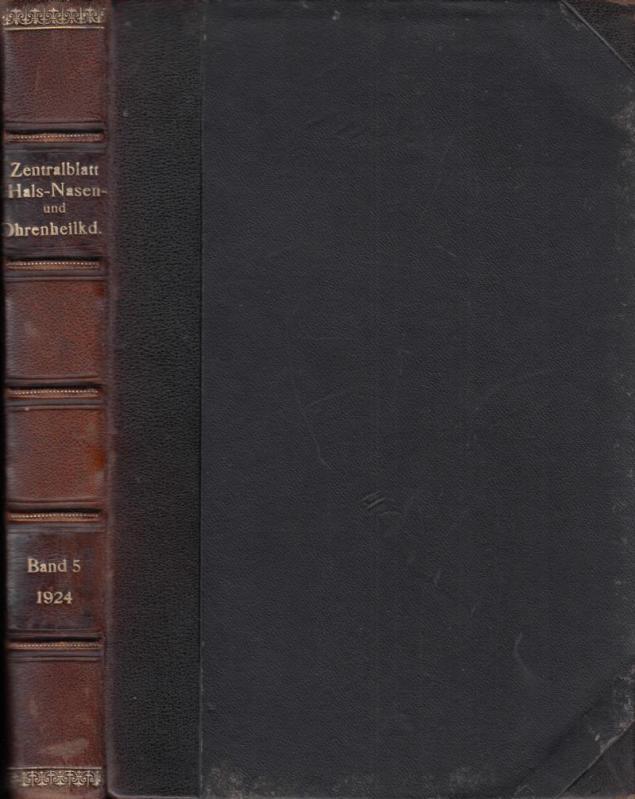 Zentralblatt für Hals-, Nasen- und Ohrenheilkunde sowie: Finder, Georg ;