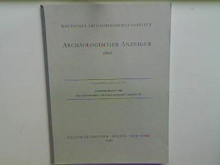Jahresbericht 1988 des Deutschen Archäologischen Instituts (Sonderdruck): Deutsches Archäologisches Institut: