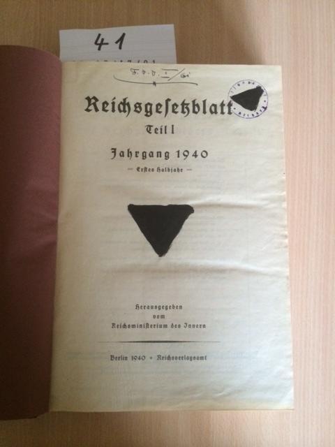 Reichsgesetzblatt Teil I - Jahrgang 1940 -: Reichsminister des Innern: