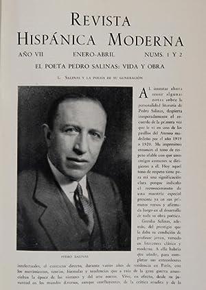 El poeta Pedro Salinas: Vida y Obra & El Conceptismo interior de Pedro Salinas. [in] REVISTA ...