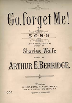 Go, Forget Me Song with Tonic Soll-fa - Vintage Sheet Music