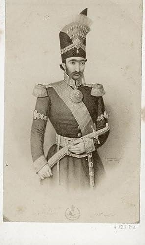 Bild des Verkäufers für Portrait of Nasser-ed-Deen, Shah of Iran. zum Verkauf von Krul Antiquarian Books