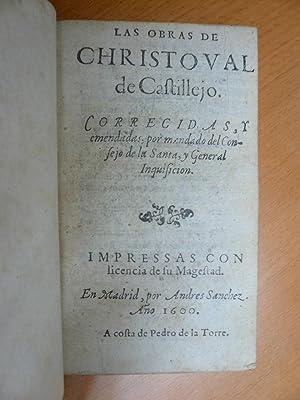 Las obras. Corregidas, y emendadas, por mendado del Consejo de la Santa, y General Inquisicion.: ...