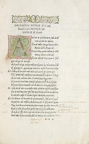 Idyllia] [and other texts]: Theocritus; Hesiod