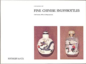 Catalogue of Fine Chinese Snuffbottles 11th October, 1974