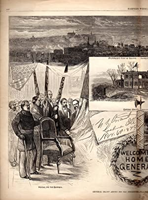 """ENGRAVING: '""""General Grant Among His Old Neighbors"""".double: Grant, Ulysses S.)"""
