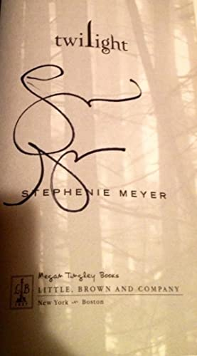 Twilight (Signed, not inscribed. True first printing/first edition)