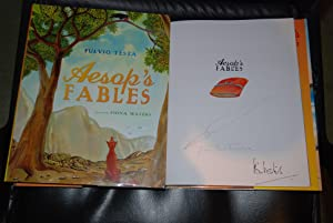 Aesop's Fables Double Signed by both Fiona Waters and Fulvio Testa & Doodled