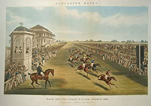 Doncaster Races. Race for the Great St.: Pollard, James