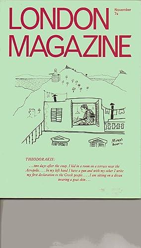 London Magazine. November 1970. Volume 10. Number 8. Includes: THREE POEMS by Richard Brautigan; ...