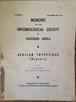 Memoirs of the Entomological Society of Southern Africa . African Trypetidae (Diptera); a review ...