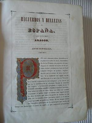 Recuerdos y Bellezas de España: ARAGON . Obra destinada a dar a conocer sus monumentos, ...