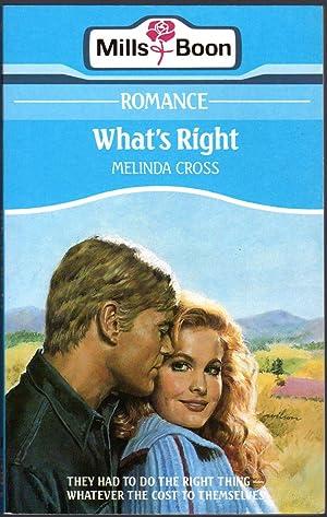 What's Right: Cross, Melinda