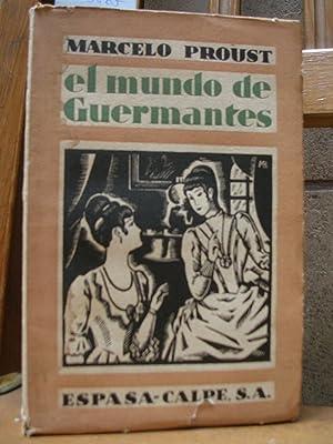 EL MUNDO DE GUERMANTES I: PROUST, Marcelo (Pedro