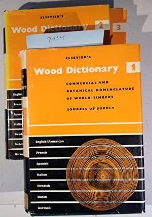 Elsevier's Wood Dictionary in Seven Languages - 3 Volumes