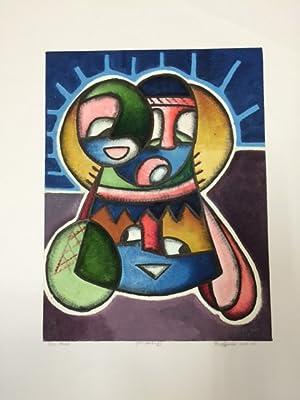 "Ibo Mask"" (Oil painting). Oil colours on paper. 30 x 39 cm. Date: 2000.: Afrikanische Kunst - ..."