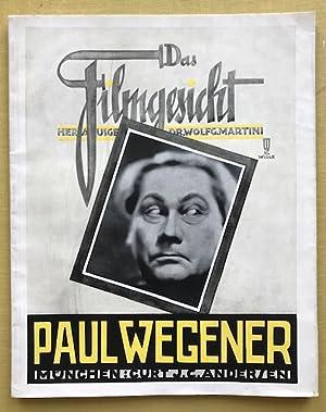 Paul Wegener. Eingeleitet von Wolfgang Martini und Margarete Lange-Kosak.: Martini, Wolfgang (Hrsg....