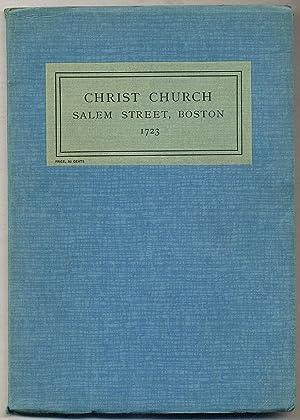 Christ Church, SALEM STREET, BOSTON, 1723: A: BABCOCK, Mrs. Samuel