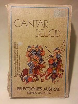 CANTAR DEL CID. Texto Antiguo De Ramon: Anonimo.