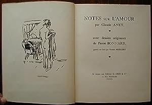 Notes sur l'amour: ANET, Claude