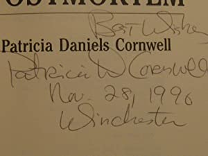Postmortem (Signed & Inscribed & dated): Cornwell, Patricia Daniels