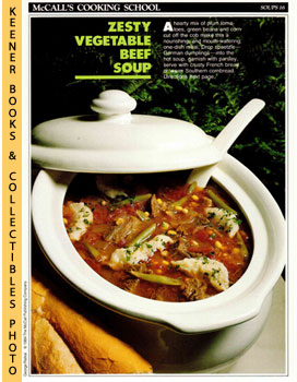 McCall's Cooking School Recipe Card: Soups 16 - Fresh Vegetable Soup With Spaetzle (Replacement M...