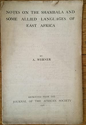 Notes on the Shambala and Some Allied Languages of East Africa