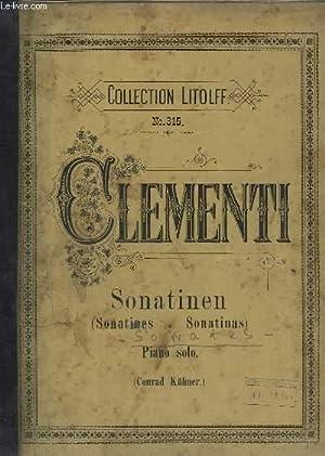 SONATINEN / SONATINES / SONATINAS - VOLUME: CLEMENTI M. /