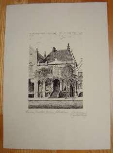 Geburtshaus von Theodor Storm in Husum am Markt. > Signierte Original-Radierung <.: Bülering ...