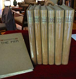 THE FRA (NOT FOR MUMMIES) A JOURNAL: Hubbard, Elbert (Editor);