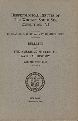 Herpetological Results of the Whitney South Sea Expedition. VI. Pacific Island Amphibians and Rep...
