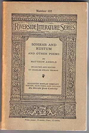 Sohrab and Rustum and Other Poems: Matthew Arnold
