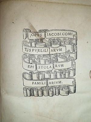 Immagine del venditore per Incunabolo). Opus Iacobi Comitis Purliliarum epistolarum familiarum. venduto da Libreria Brighenti
