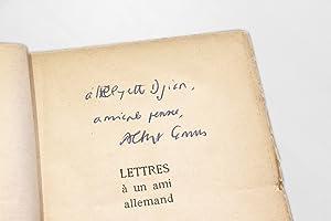 Lettres à un ami allemand: CAMUS Albert