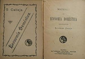 Nociones de Economía Doméstica.: CALLEJA FERNANDEZ SANTOS,