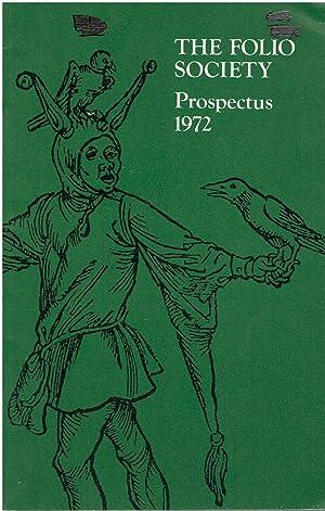The Folio Society - Prospectus 1972