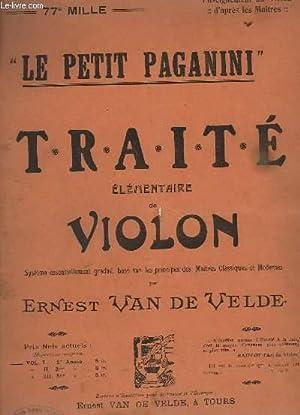 LE PETIT PAGANINI - TRAITE ELEMENTAIRE DE: VAN DE VELDE