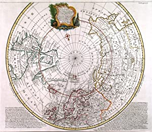 A CORRECT DRAUGHT OF THE NORTH POLE AND OF ALL THE COUNTRIES HITHERTO DISCOVERED. . Map of the N...