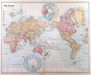 THE WORLD ON MERCATOR S PROJECTION SHOWING THE BRITISH POSSESSIONS . Map of the British Empire w...