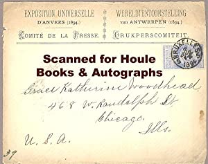 EXPOSITION UNIVERSELLE - D'ANVERS - 1894Tickets + Stamped Cover -