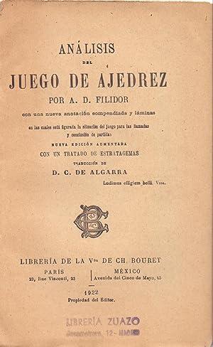 ANALISIS DEL JUEGO DE AJEDREZ: A. D. Filidor