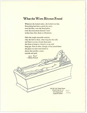 What the Worn Rhymes Found. [Broadside].