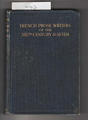 French Prose Writers of the XIXth Century & After.